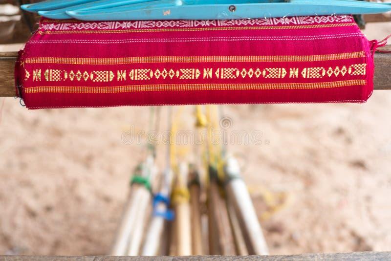 Thais weefgetouw royalty-vrije stock afbeelding