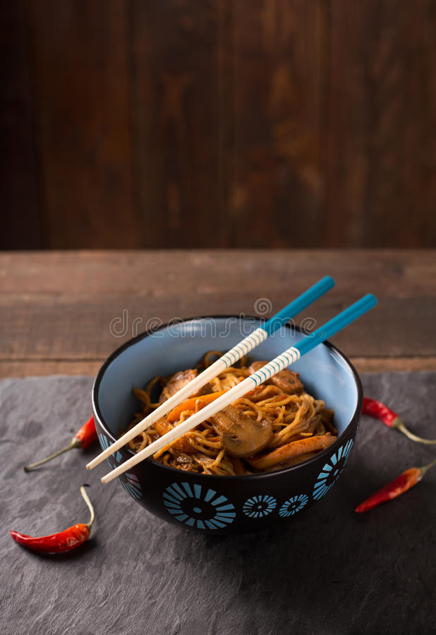 Thais wokvoedsel stock fotografie