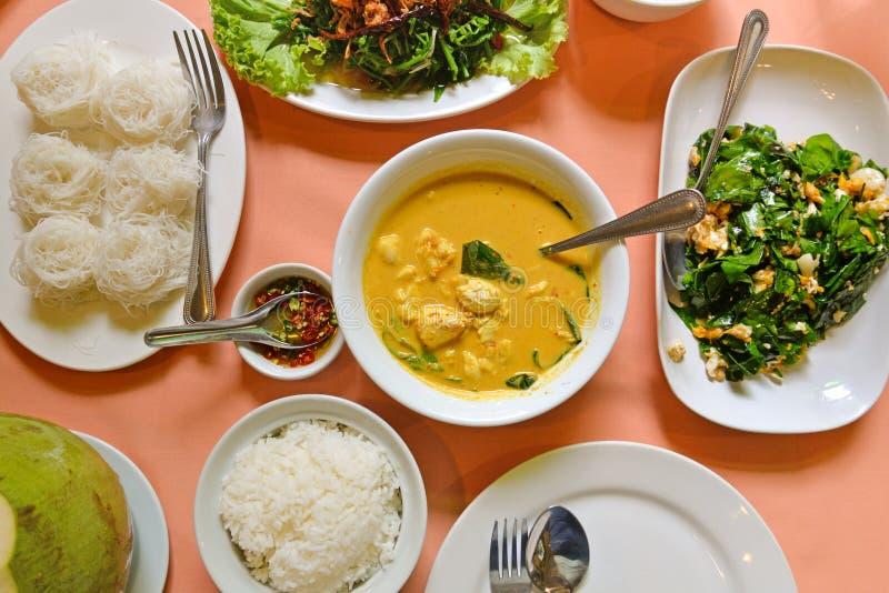 Thais zuidelijk stijlvoedsel, Phuket, Thailand royalty-vrije stock afbeeldingen
