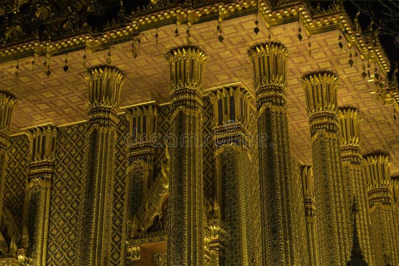 Thaise architectuur in Wat Phra Phutthabat Located in Saraburi, Thailand welke middelen Grote Koninklijke Tempel van de Buddha' royalty-vrije stock fotografie