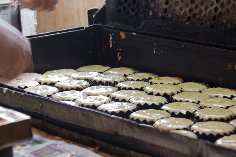 Thaise Bakkerij in oven, Thais dessert stock fotografie