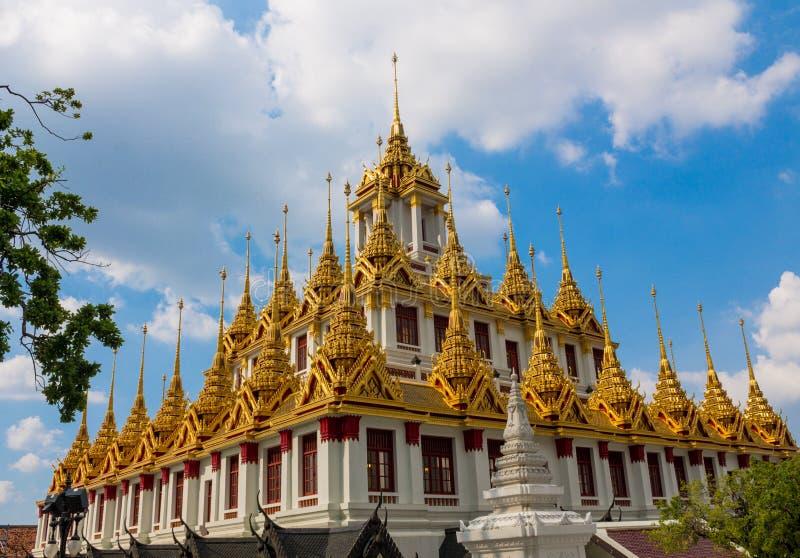 Thaise boeddhistische tempel wat in Thailand, Khon Kaen royalty-vrije stock fotografie