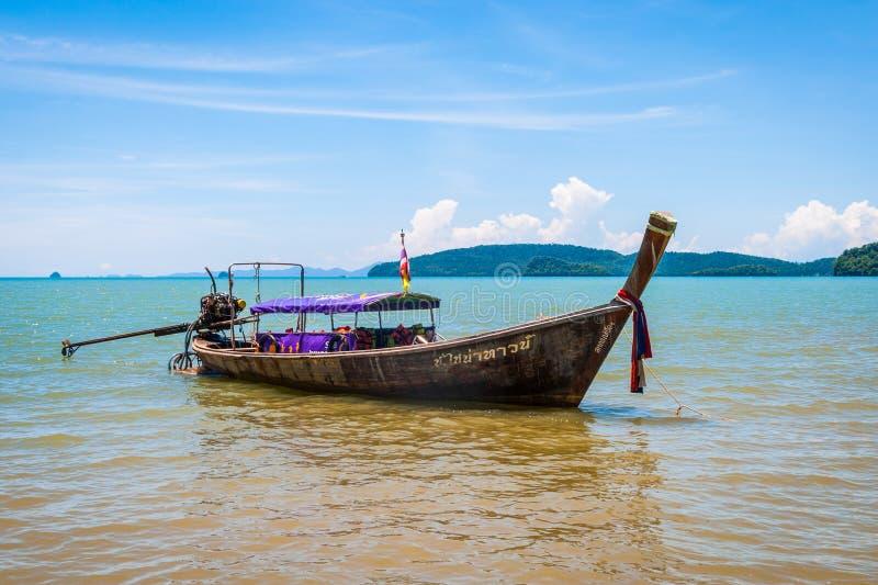 Thaise boot, Krabi stock fotografie