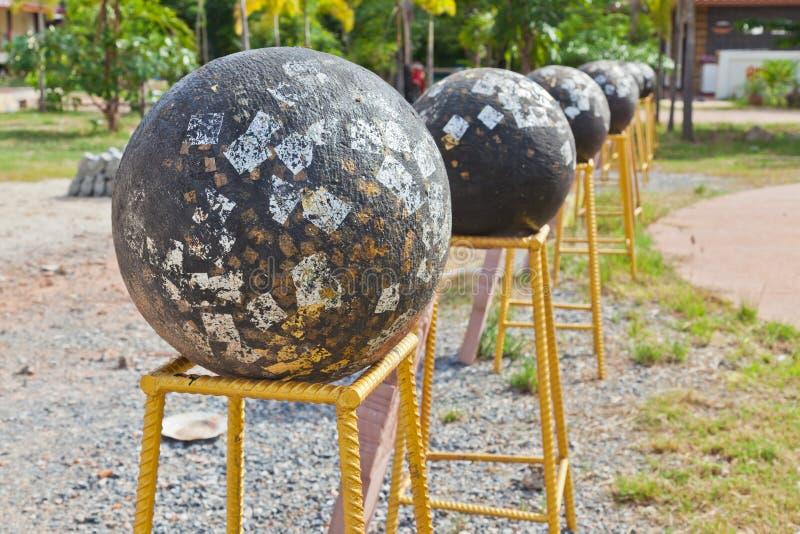 Thaise cultuur; Loknimit-zwarte steen royalty-vrije stock afbeelding