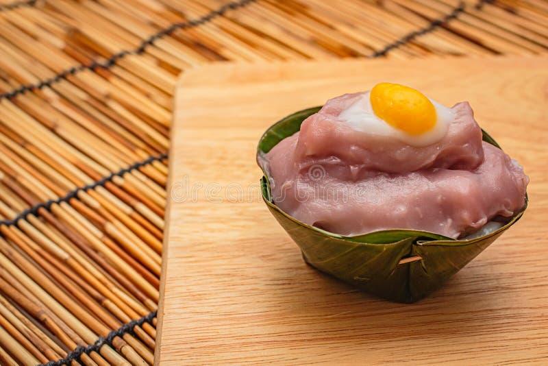 Thaise desserts in banaanblad royalty-vrije stock fotografie