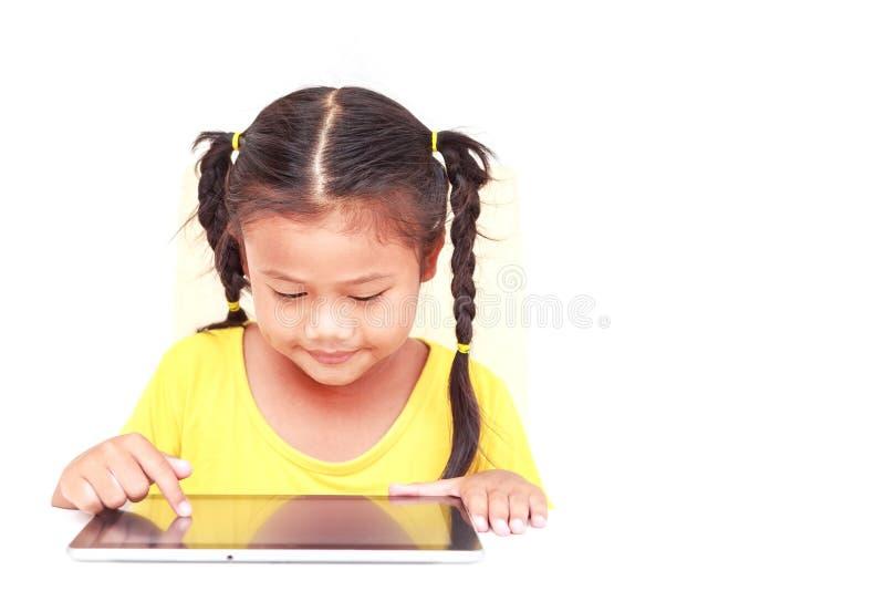 Thaise die kinderen op witte achtergrond worden geïsoleerd royalty-vrije stock foto