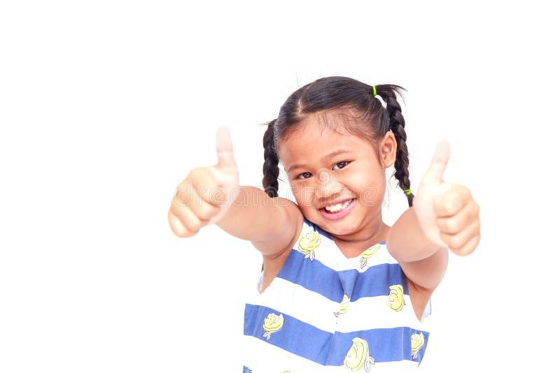 Thaise die kinderen op witte achtergrond worden geïsoleerd stock fotografie