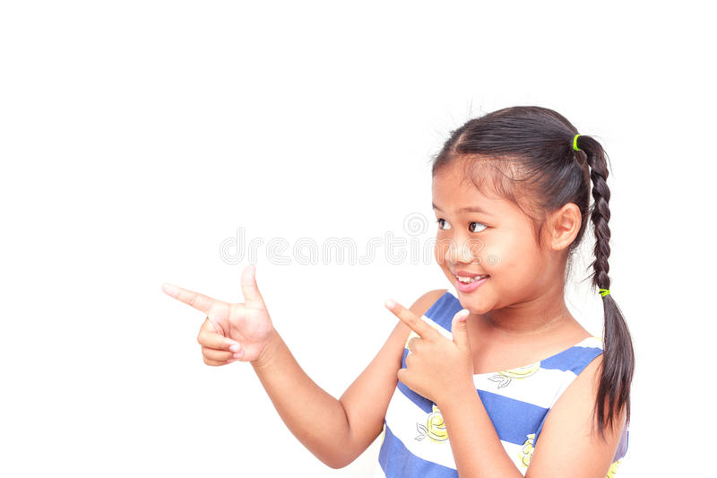 Thaise die kinderen op witte achtergrond worden geïsoleerd royalty-vrije stock foto's