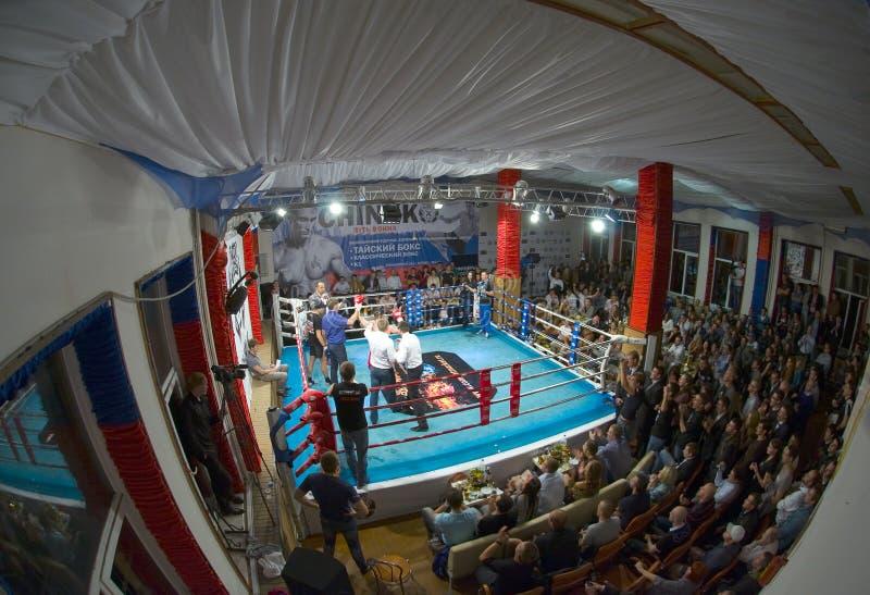 Thaise in dozen doende strijdclub Osminog royalty-vrije stock foto