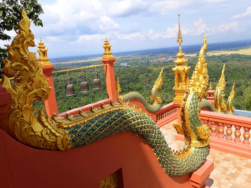Thaise draak of koning van standbeeld Naga stock foto
