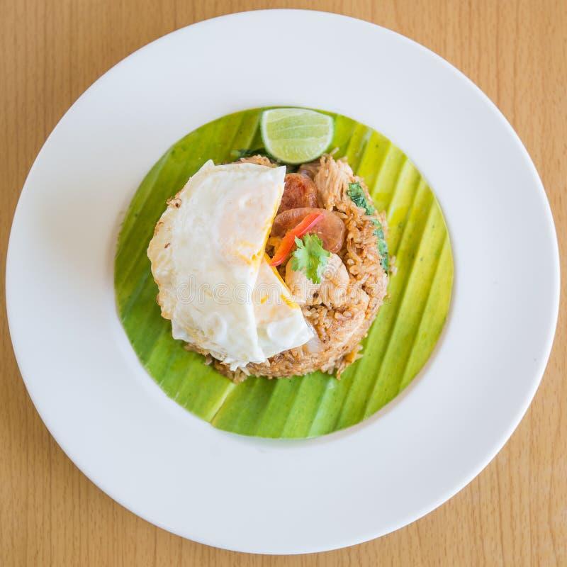 Thaise gebraden rijst royalty-vrije stock fotografie