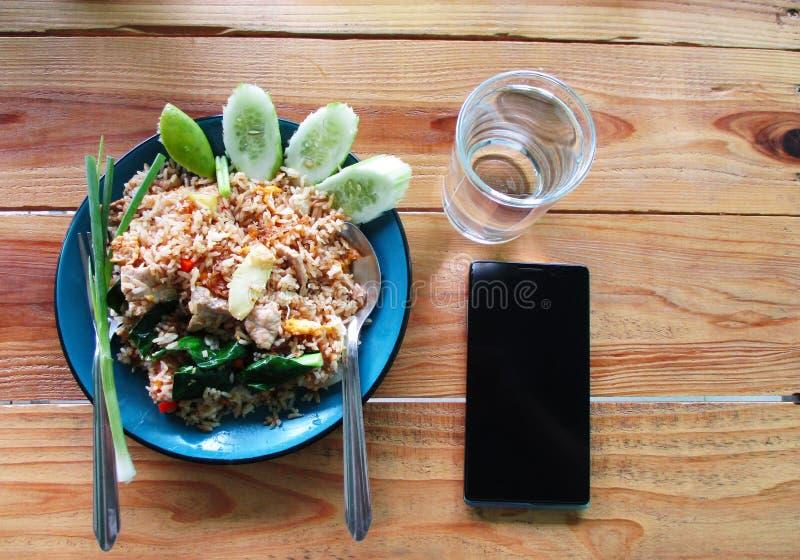 Thaise gebraden rijst royalty-vrije stock foto