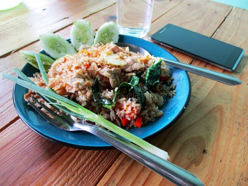 Thaise gebraden rijst stock afbeeldingen