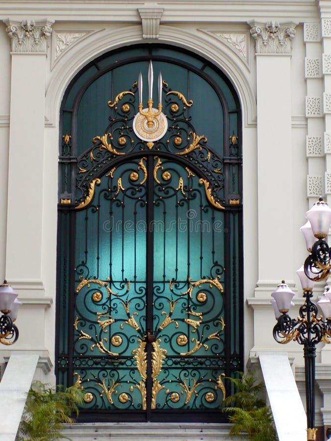 Thaise Gouden Deur stock afbeeldingen