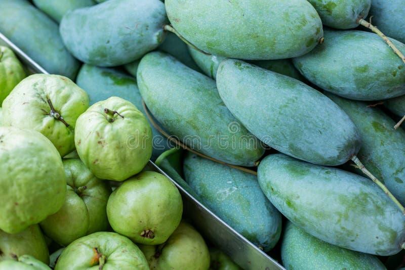 Thaise guave en mango stock foto