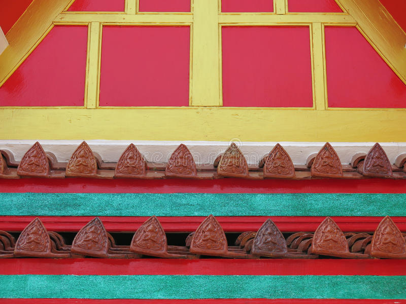 Thaise het Daktegels van de Stijltempel stock foto