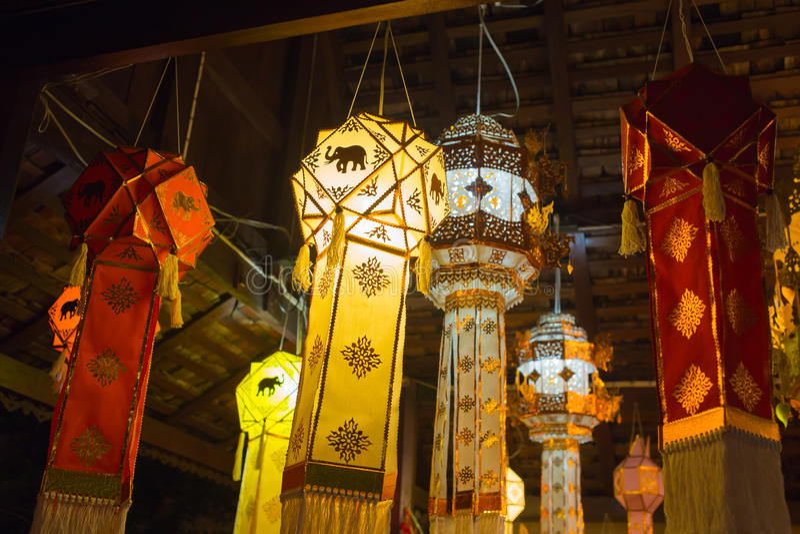 Thaise het document van cultuurlanna ambachtlantaarn royalty-vrije stock foto's