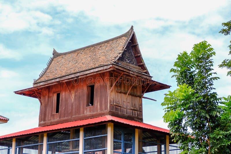 Thaise Thaise het huisstijl van Ayutthaya van de huisstijl stock foto