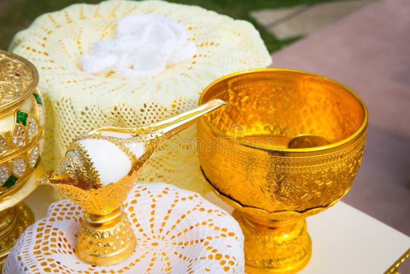 Thaise huwelijksceremonie royalty-vrije stock fotografie