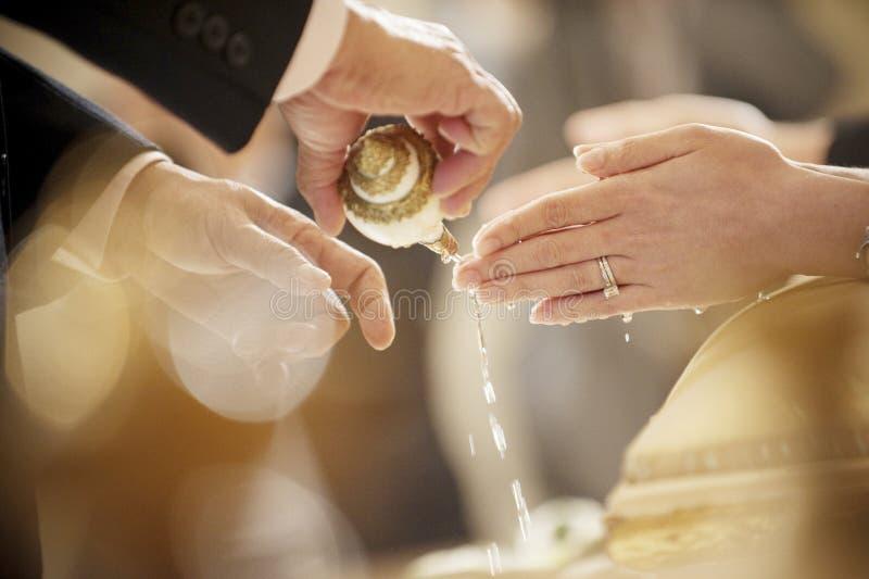 Thaise huwelijksceremonie stock afbeeldingen