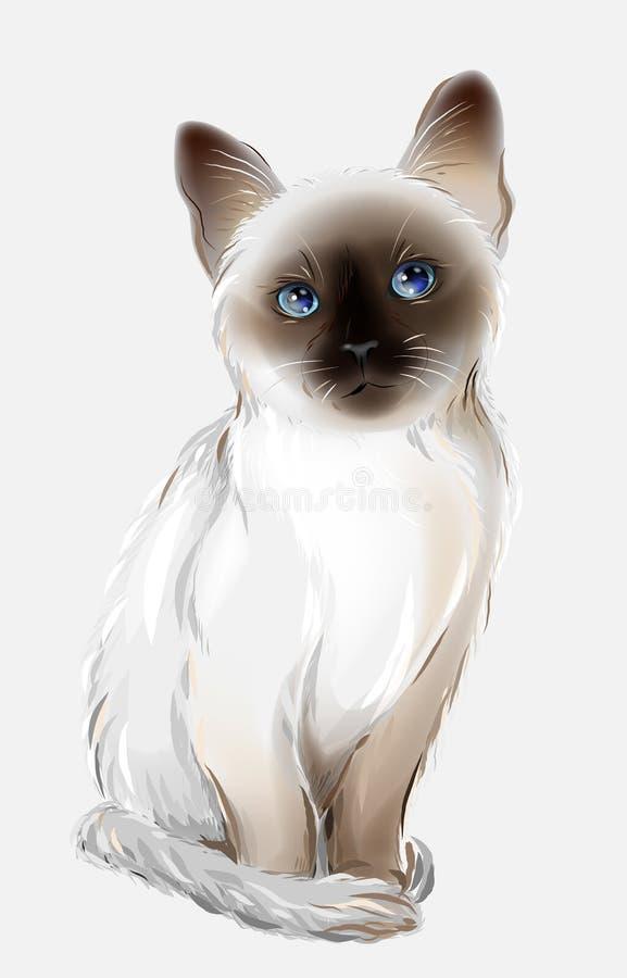 Thaise kat vector illustratie