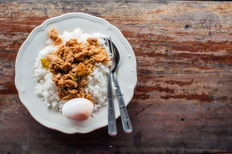 Download Thaise Kerrie Met Gekookte Ei En Rijst Stock Foto - Afbeelding bestaande uit rijst, maaltijd: 29507200