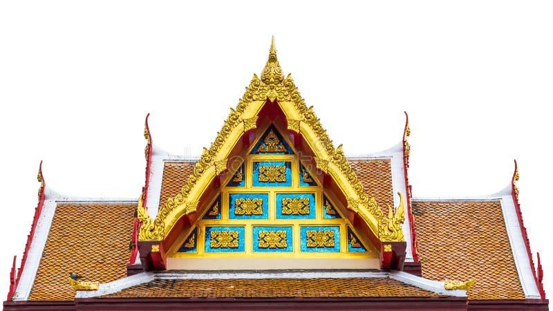 Thaise kunst op dakkerk bij Thaise tempel stock foto's