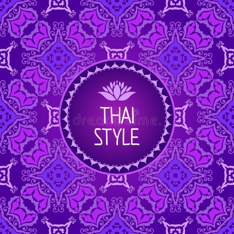 Thaise kunstachtergrond Naadloos patroon royalty-vrije illustratie