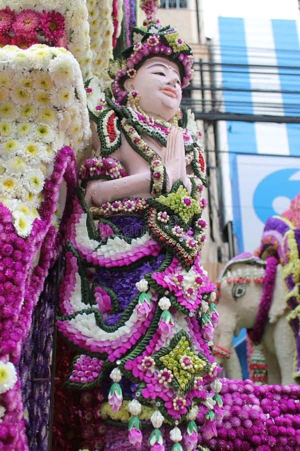 Thaise kunstmatige ambachts verse bloem stock afbeelding
