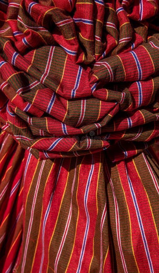 Thaise lendendoeklendendoek, de Thaise die doek van de stijlplaid met mooie Thaise stof wordt verfraaid stock fotografie
