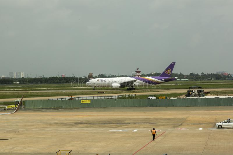 Thaise Luchtroutes stock afbeeldingen