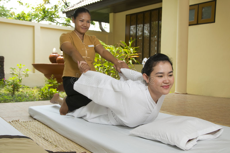 Thaise massage royalty-vrije stock afbeelding