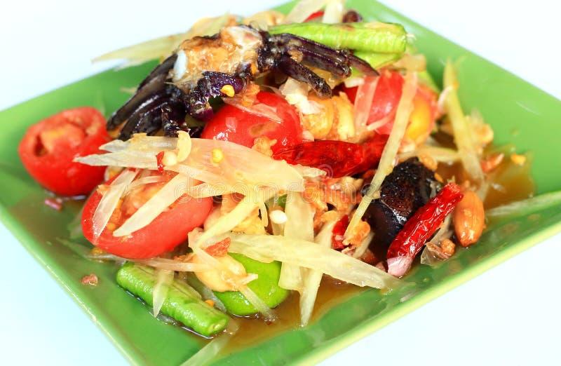 Thaise papajasalade stock foto