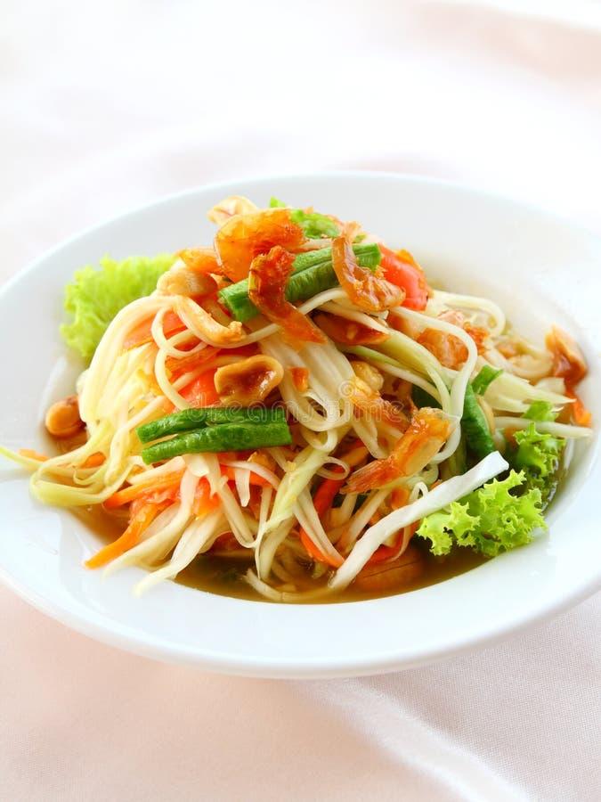 Thaise papajasalade (Som Tum) royalty-vrije stock afbeelding