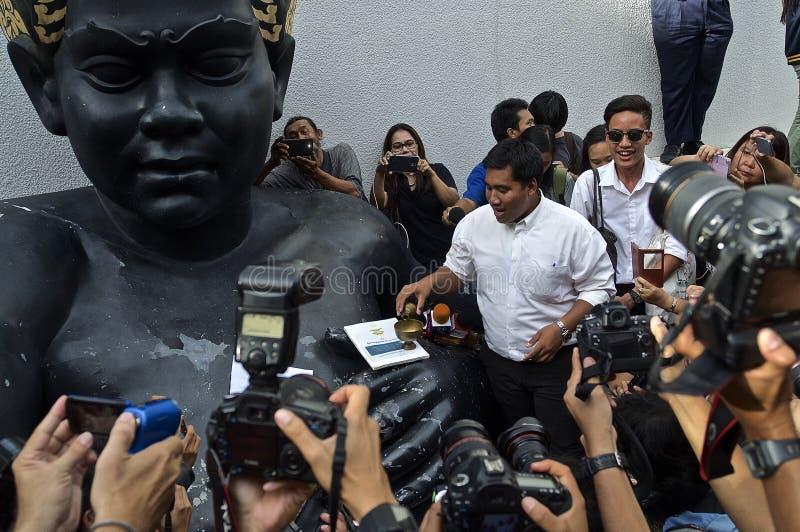 Thaise politieke crisis stock foto's