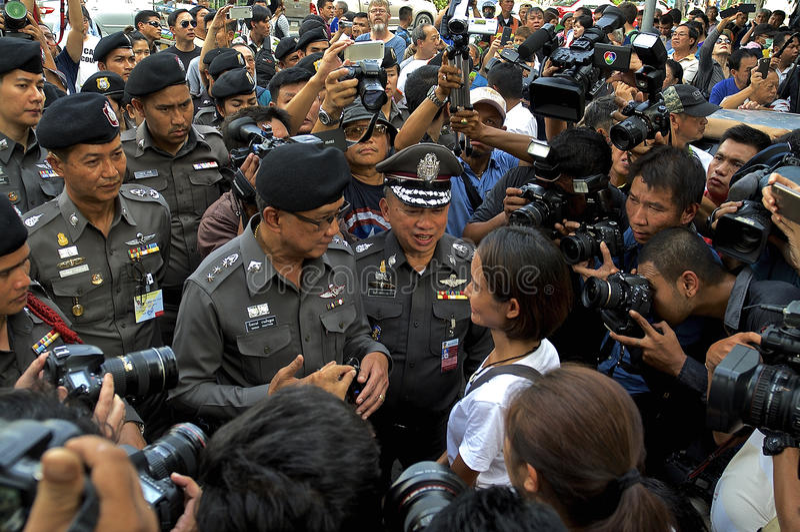 Thaise politieke crisis royalty-vrije stock foto