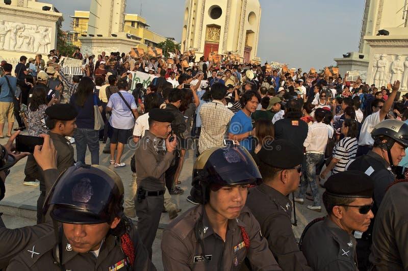 Thaise politieke crisis royalty-vrije stock afbeeldingen