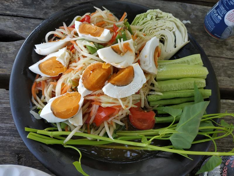 Thaise salade royalty-vrije stock fotografie