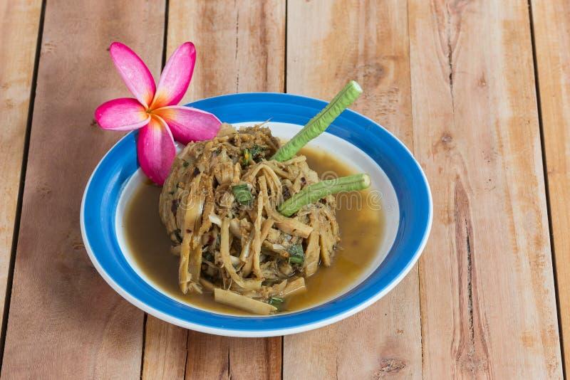 Thaise salade van bamboe stock foto's