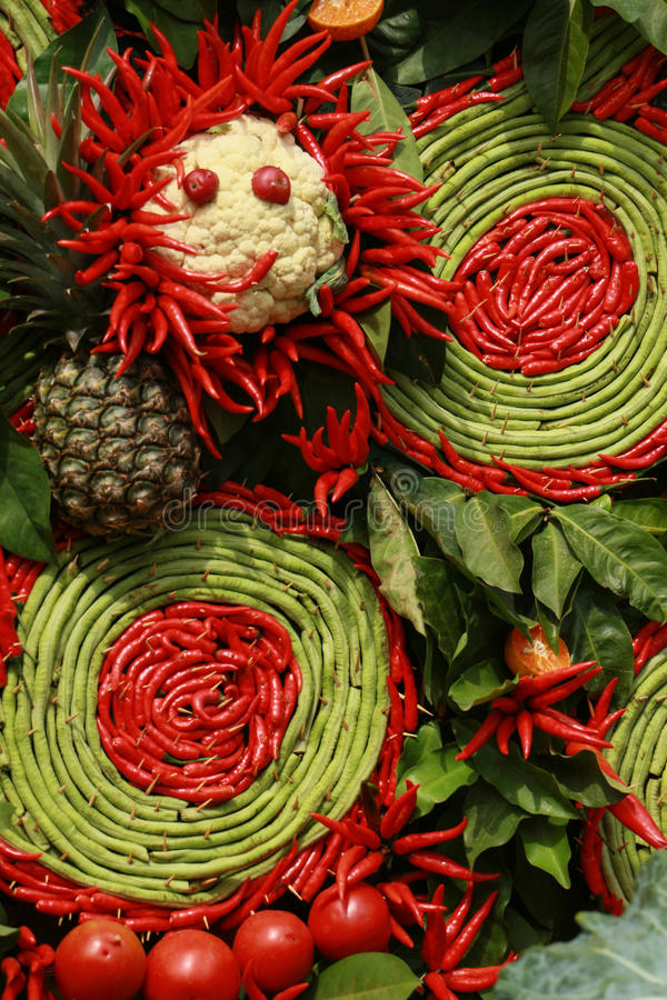 Thaise Spaanse peper en groente voor Thaise keuken stock afbeelding