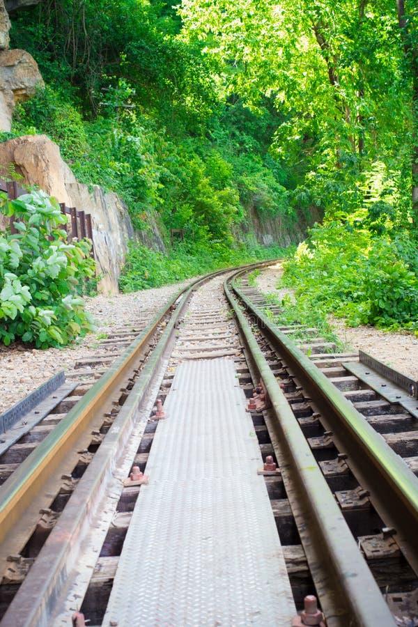 Thaise spoorweg royalty-vrije stock foto