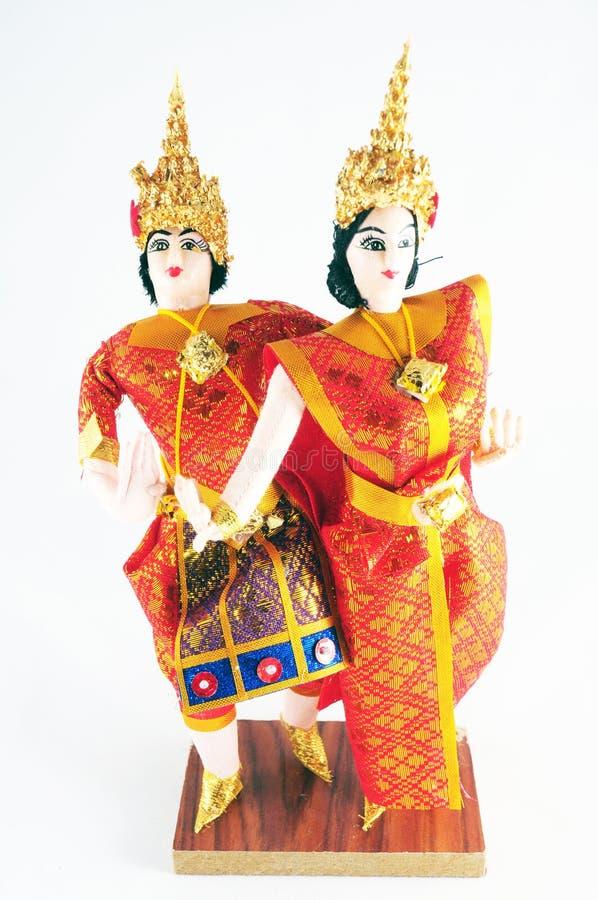 Thaise stijl dansende pop stock afbeelding