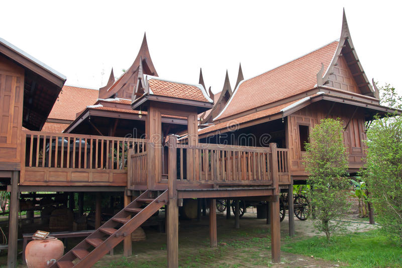 Thaise stijl huose royalty-vrije stock foto's