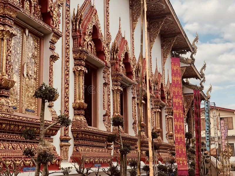 Thaise Tempel Lanna stock foto