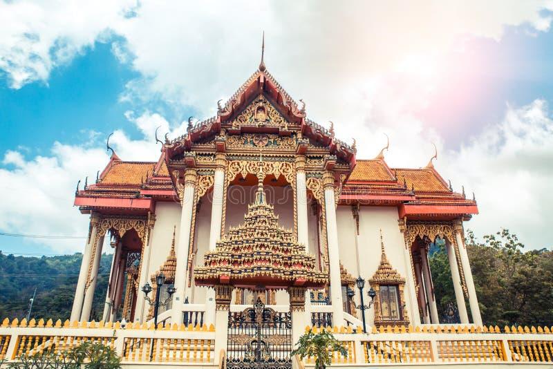 Thaise Tempel Wat Patong Temple, Suwankeereewong Phuket, Thailand royalty-vrije stock afbeelding