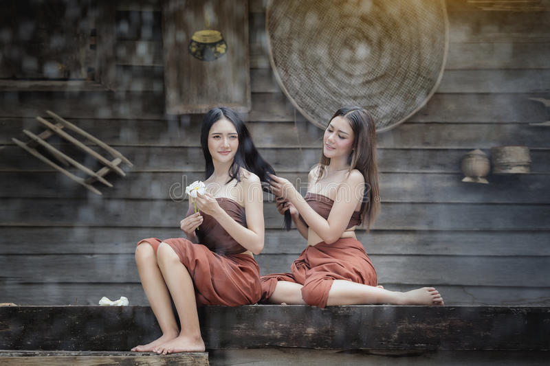 Thaise Traditionele Kleding stock foto's