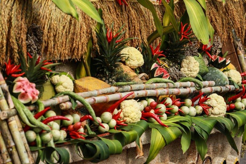 Thaise voedselgroenten en vruchten stock foto's