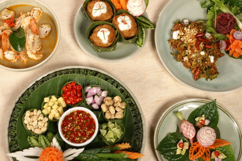 Thaise voedselreeks royalty-vrije stock foto's