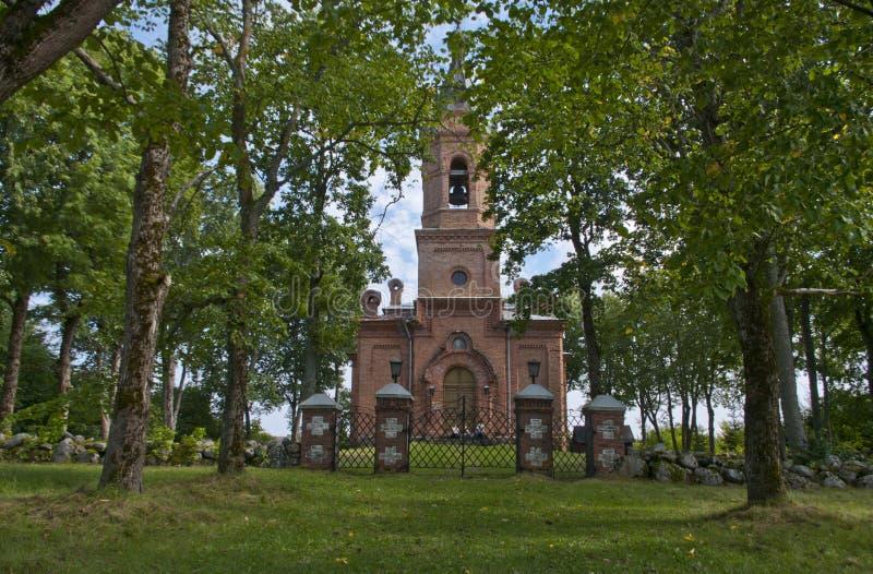 Thakuranna, Iglesia de la Asunción, Estonia foto de archivo libre de regalías