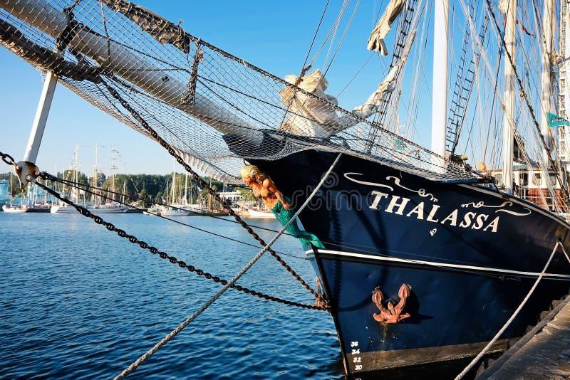 Download Thalassa - sailing vessel editorial image. Image of rigged - 21163415